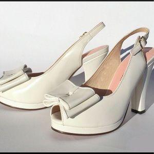 Re-Mix Vintage Shoes Pumps Heels Retro White pinup